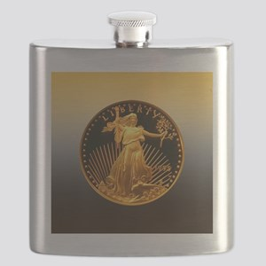 American Eagle Gold Proof 50 Dollar Coin Flask