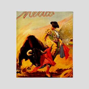 Vintage Mexico Matador Travel Throw Blanket