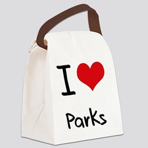 I Love Parks Canvas Lunch Bag