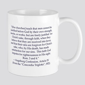 Augsburg Confession Article IV Mug (large) Mugs