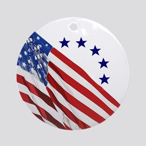 Old Glory Round Ornament