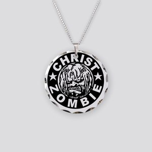 Christ Zombie Necklace Circle Charm