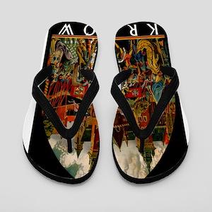 43aacc08d7b0e Vintage Krakow Poland Travel Flip Flops