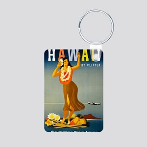 Vintage Hawaiian Travel Aluminum Photo Keychain