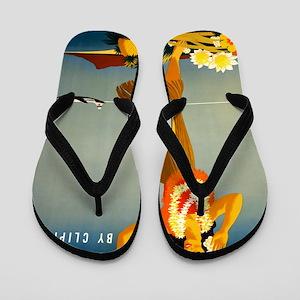 Vintage Hawaiian Travel Flip Flops