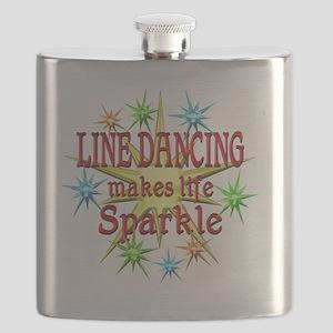 Line Dancing Sparkles Flask