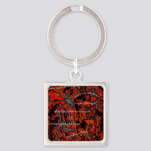 Paying Homage to Bob Marley Square Keychain