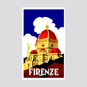 Vintage Florence Italy Travel Sticker (Rectangle)