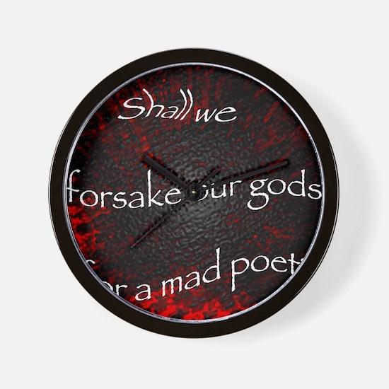 Mad Poet Wall Clock