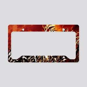 Fire in the corn field License Plate Holder