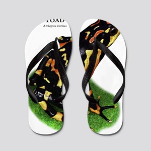 Costa Rican Variable Harlequin Toad Flip Flops