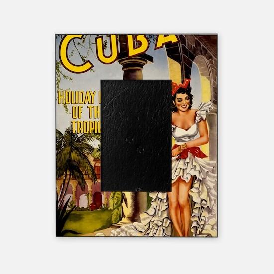 Vintage Cuba Tropics Travel Picture Frame