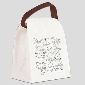 Positive Words - BL Canvas Lunch Bag