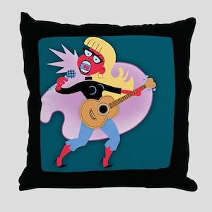 beat-mic-chick-BUT Throw Pillow