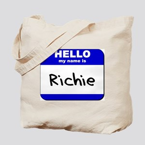 hello my name is richie Tote Bag
