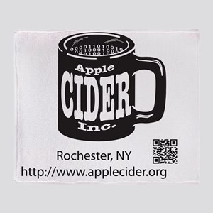 Logo w/out Apple Throw Blanket