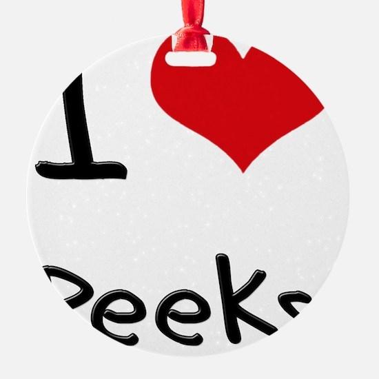 I Love Peeks Ornament
