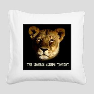 lionesssleeps Square Canvas Pillow