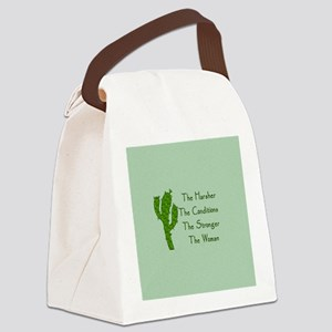 Harsh Conditions Strong Woman Canvas Lunch Bag