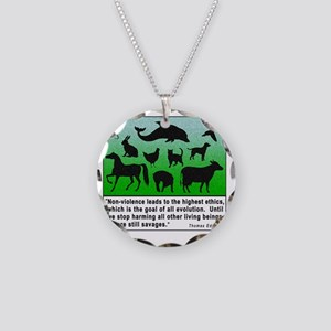 Thomas Edison Quote Necklace Circle Charm