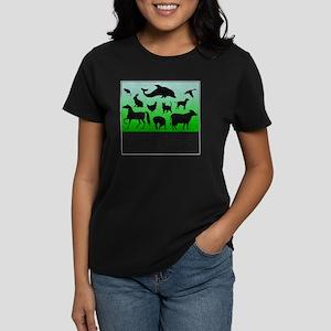 Thomas Edison Quote Women's Dark T-Shirt