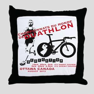 DUATHLON Throw Pillow