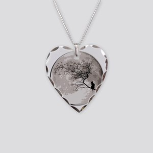 000CatMoon Necklace Heart Charm