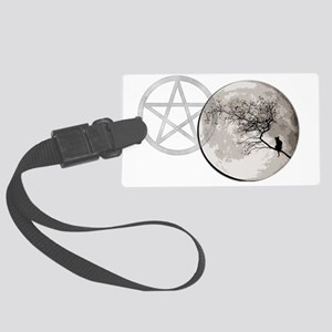 000CatMoon banner Large Luggage Tag