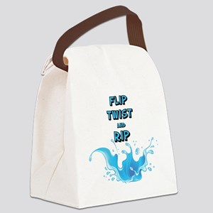 Flip, Twist and Rip Canvas Lunch Bag