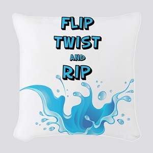 Flip, Twist and Rip Woven Throw Pillow