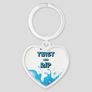 Flip, Twist and Rip Heart Keychain