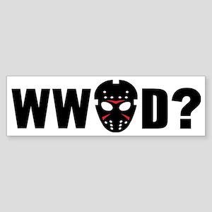 What would Jason Voorhees do? Sticker (Bumper)