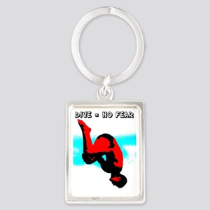 Dive = No Fear Portrait Keychain