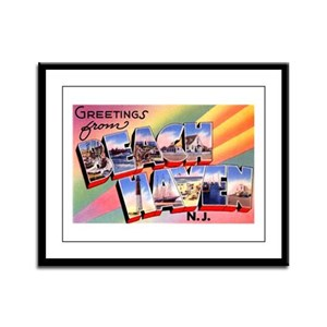 Beach Haven New Jersey Framed Panel Print