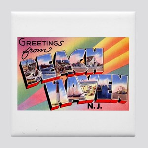 Beach Haven New Jersey Tile Coaster