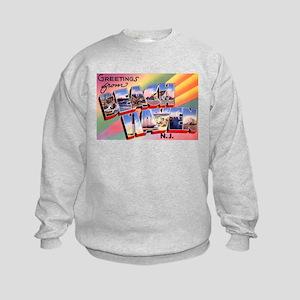 Beach Haven New Jersey (Front) Kids Sweatshirt