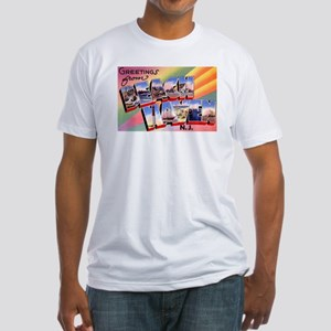 Beach Haven New Jersey (Front) Fitted T-Shirt