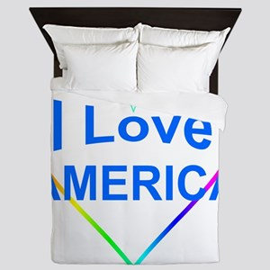 I Love America: Queen Duvet