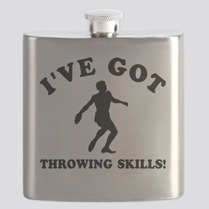 Discus Throwing Designs Flask