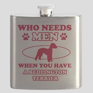 Bedlington Terrier dog breed designs Flask