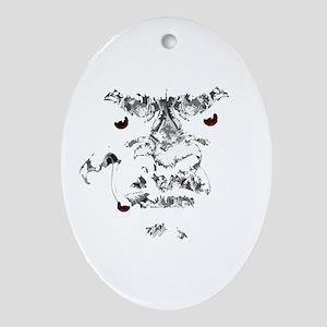 Bigfoot (dark) Oval Ornament