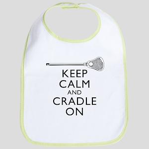 Keep Calm And Cradle On Bib