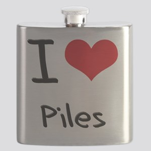 I Love Piles Flask