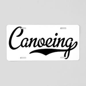 Canoeing Aluminum License Plate
