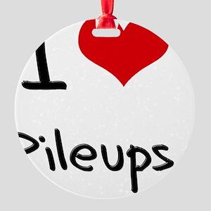 I Love Pileups Round Ornament