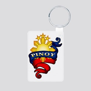 Pinoy Coat of Arms Aluminum Photo Keychain