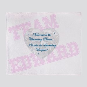 Sparkling Vampire Team Edward Prince Throw Blanket