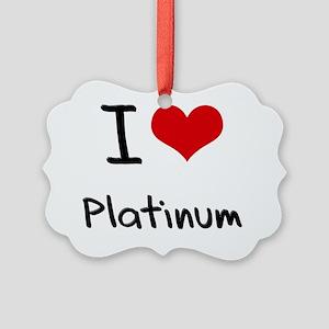I Love Platinum Picture Ornament