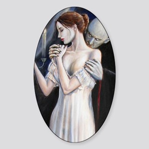Vampire visitation card Sticker (Oval)