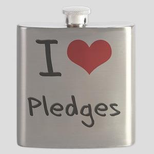 I Love Pledges Flask